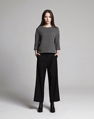 LOOSE CROPPED TOP (TWEED)